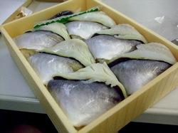 大船軒の鰺(あじ)の押し寿司