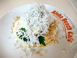 江ノ島Aloha Beach Cafe(アロハビーチカフェ)の江ノ島名物しらすパンケーキ