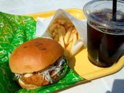 湘南江の島アイランドスパ湘南バーガーのさつましらすバーガー