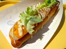 湘南江の島アイランドスパ湘南バーガーの湘南ドッグ