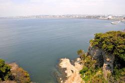海が見える江ノ島の食事処江之島亭の海