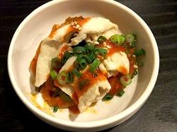 藤沢の韓国料理豚まるのお通し豚の冷しゃぶ