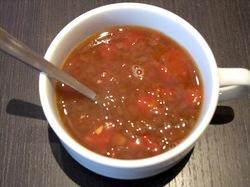 辻堂テラスモール湘南のハンバーグレストランいしがまやのセットスープ