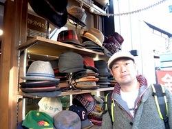 鎌倉小町通りの帽子専門店鎌倉帽子屋のハンチング