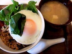 鎌倉どんぶりカフェダイニングbowls(ボウルズ)の豚ひき肉とモヤシのガパオ丼
