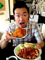 楽縁@鎌倉小町通りの湘南豚の味噌漬け&湘南産アジフライ