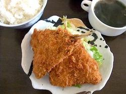 楽縁@鎌倉小町通りの湘南産アジフライ定食