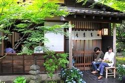 ビーフシチューで有名な北鎌倉去来庵の外観