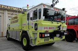 厚木基地の米軍科学消防車