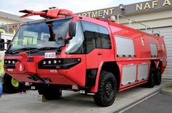 厚木基地の海上自衛隊科学消防車