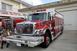 厚木基地の米軍消防車