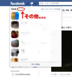 Facebook(フェイズブック)のメッセージ欄「その他」
