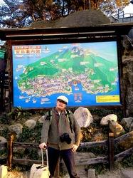 湘南から宮島厳島神社・出雲大社・鳥取砂丘ドライブ宮島案内図