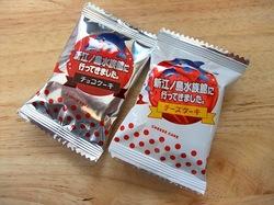 スイーツ江ノ電号のお土産新江ノ島水族館パパ・オーブンのチーズ&チョコケーキ