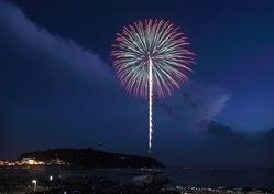 湘南・鎌倉の花火大会紹介2014:江の島の雨量花火大会