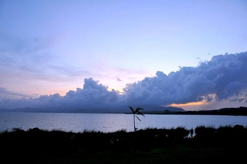 湘南から沖縄八重山旅行小浜島はいむるぶしから夕日