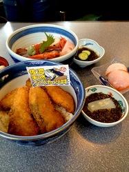 新潟県佐渡島の海鮮料理は小木の小木家のブリカツ丼&海鮮丼