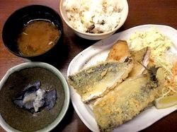 小田原漁港早川の港の台所なみの地魚だけのミックスフライ定食