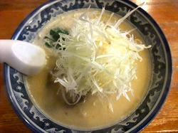 藤沢本町のラーメン小松屋の味噌ネギラーメン