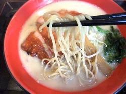 鎌倉小町通りの新魚介系鯛ラーメンかわかみの細麺
