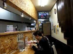 藤沢市辻堂のラーメンしろくま食堂の店内
