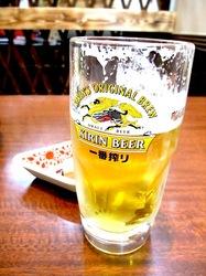 ラーメン&中華満族麺菜家@藤沢駅南口の生ビール