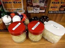 藤沢辻堂の家系ラーメン壱角家の調味料