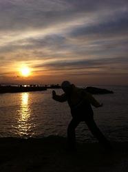 江ノ島裏磯からの初日の出