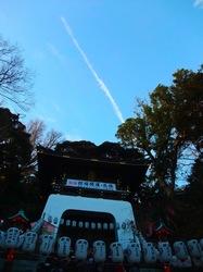 江島神社辺津宮に昇る竜雲