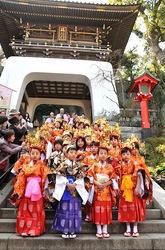 湘南江の島春まつり2014江島神社で稚児行列