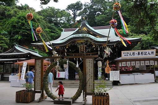 湘南藤沢江島神社辺津宮の七夕飾り