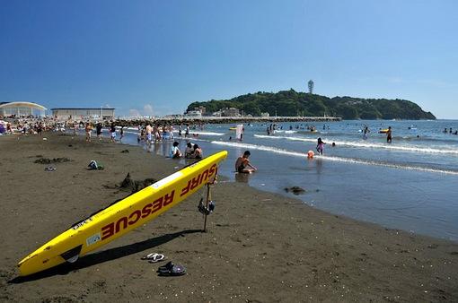 湘南江ノ島片瀬海岸西浜海水浴場