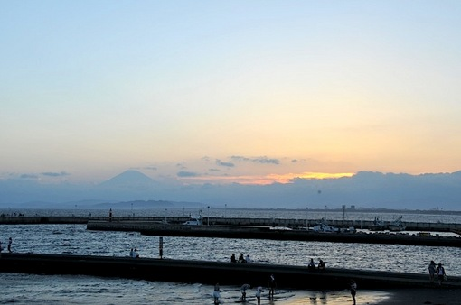 湘南江ノ島や弁天橋からの夕景