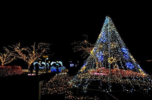 湘南江ノ島シーキャンドルライトアップ2014亀ヶ岡広場も