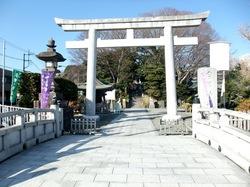 白旗神社の鳥居