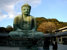 鎌倉紅葉スポット長谷の高徳院大仏