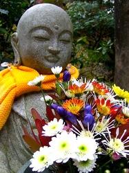 鎌倉の紅葉スポット北鎌倉明月院の花想い地蔵