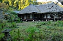 北鎌倉の紅葉散策浄智寺の書院前庭園