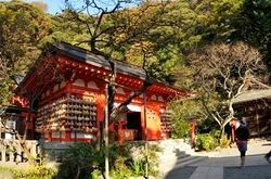 鎌倉紅葉散策の荏柄天神社
