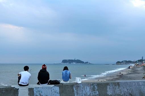 七里ガ浜から秋のダイヤモンド富士チャレンジ2014