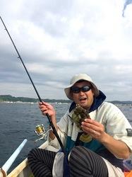 鎌倉市材木座海岸からボート釣りでカワハギ釣り