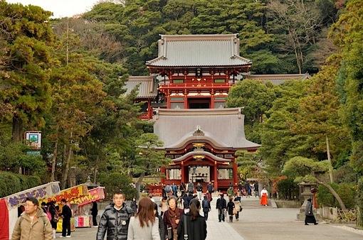 冬の鶴岡八幡宮