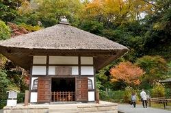 北鎌倉明月院の開山堂の紅葉