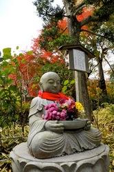 北鎌倉明月院の花想い地蔵と紅葉