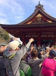 鎌倉鶴岡八幡宮節分祭2014の豆まき幅豆拾い