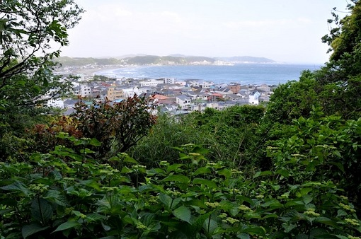 鎌倉新緑チェック2014長谷の長谷寺の眺望散策路