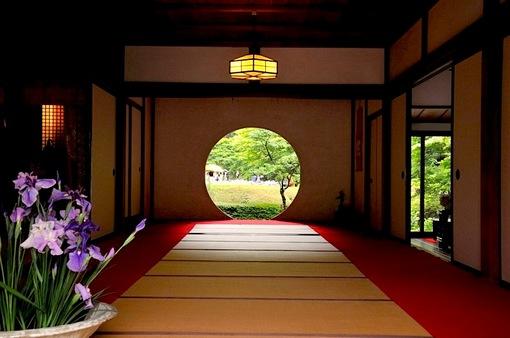 鎌倉紫陽花(あじさい)チェック2014北鎌倉明月院円窓からの菖蒲畑