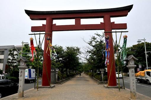 鎌倉鶴岡八幡宮の七夕祭り2014段葛の二の鳥居