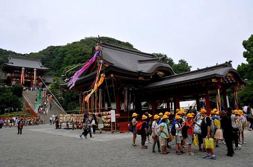 鎌倉鶴岡八幡宮の七夕祭り2014舞殿&本殿の七夕飾り