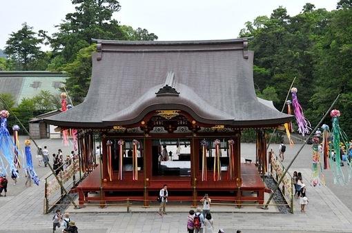 鎌倉鶴岡八幡宮の七夕祭り2014舞殿の七夕飾り